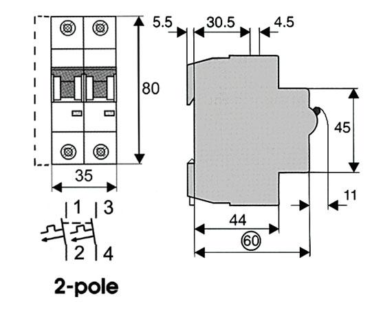 miniature circuit breaker mcb 2 model   l7 2  c